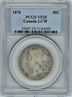 CANADA 1870 LCW 50 CENTS PCGS VF25