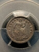 1856-O NEW ORLEANS MINT SILVER SEATED HALF DIME CH EXTRA FINE