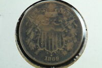 1869 2 CENT PIECE FINE CIRCULATED