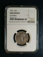 1921 STANDING LIBERTY QUARTER NGC FINE 25C SILVER COIN PRICED TO SELL