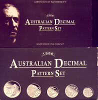 1966 AUSTRALIAN PATTERN SET OF SILVER  PROOF COINS:    NO  R