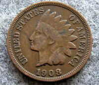 UNITED STATES 1908 CENT INDIAN HEAD