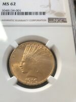 1910 G$10 INDIAN HEAD GOLD EAGLE -  DATE NGC MINT STATE 62  BEAUTIFUL COIN