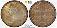 1849 GREAT BRITAIN VICTORIA GODLESS FLORIN PCGS 64 EXCELLENT TONING HIGH VALUE
