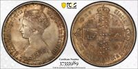1857 GREAT BRITAIN VICTORIA GOTHIC FLORIN PCGS 63 EXCELLENT TONING HIGH VALUE