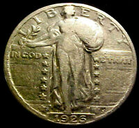 1926-S STANDING QUARTER 25 CENTS 25C    BRIGHT SOLID COIN  202YM