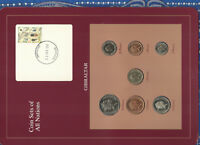 COIN SETS OF ALL NATIONS GIBRALTAR 1988-1995 UNC 1 1995 50,20 PENCE 1988