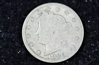 ESTATE FIND 1889 - W/CENTS LIBERTY HEAD V NICKEL  H9266