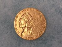 1928 US MINT 2 1/2 DOLLAR GOLD COIN $2.50 INDIAN NICE HIGH G