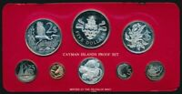 CAYMAN ISLANDS: 1981 8 COIN PROOF SET  DATE LOW MINTAGE  ASW