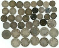 CANADA SILVER LOT MIX OF 92.5  80  50    $49.15 FACE VICTORIA TO QEII