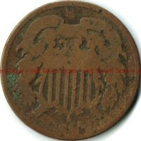 1864 2 CENT COIN CIRCULATED