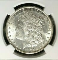 1921 VAM 1E NGC MINT STATE 62 MORGAN SILVER DOLLARGENE L HENRY LEGACY COLLECTION
