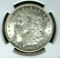 1921 VAM 41A NGC MINT STATE 64 MORGAN SILVER DOLLARGENE L HENRY LEGACY COLLECTION