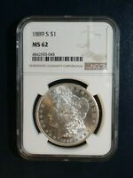 1889 S MORGAN SILVER DOLLAR NGC MINT STATE 62 BETTER DATE $1 COIN PRICED TO SELL FAST