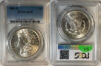 1889-S MORGAN SILVER DOLLAR - PCGS AU55 - GREAT DATE & LOTS OF LUSTER - M32