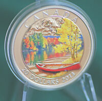 2013 CANADA $20 AUTUMN BLISS COLOURED COIN 99.99  SILVER   IN STOCK