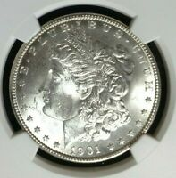 1901-O MORGAN SILVER DOLLAR  NGC MINT STATE 63 BEAUTIFUL COIN REF057
