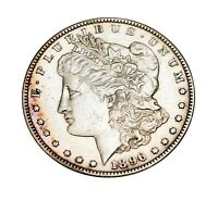 1896-S $1 MORGAN SILVER DOLLAR AU ALMOST UNCIRCULATED   DATE   COIN