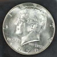 1970-D US JFK KENNEDY SILVER CLAD HALF DOLLAR COIN GEM BU CONDITION  A-826