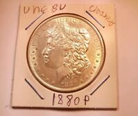 1880 P $1 MORGAN SILVER DOLLAR COIN UNCIRCULATED DETAILS