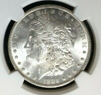 1884 O/O VAM 10 NGC MINT STATE 62 MORGAN SILVER DOLLAR-GENE L.HENRY LEGACY COLLECTION