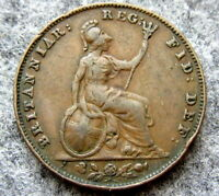 GREAT BRITAIN QUEEN VICTORIA 1858 FARTHING COPPER