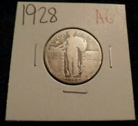 2 ABOUT GOOD STANDING LIBERTY SILVER QUARTER 1928 P AG