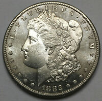 1882-S $1 MORGAN DOLLAR BU PL PROOF LIKE EO