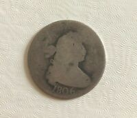 1806 DRAPED BUST SILVER QUARTER 25 CENT