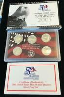 2005 S  STATE  QUARTERS  SILVER PROOF SET 5 PIECE SET NIB WI