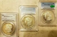 [LOT OF 3]1888 PCGS PR64CAM1902 PCGS PR651891 PCGS PR66CAM MORGAN  PROOFS