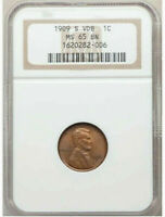 1909 S VDB   NGC MS65 BN   LINCOLN WHEAT CENT   $2 850   CHE