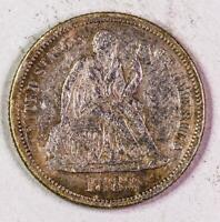1883 SEATED LIBERTY DIME EXTRA FINE  - EXTRA FINE DETAIL 2519