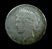 1927 P  -  PEACE SILVER DOLLAR  -  CLEANED & LIGHTLY TONED  - EXTRA FINE