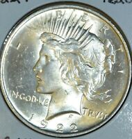 1922-P MS UNCIRCULATED/UNC  HIGH QUALITY PEACE SILVER DOLLAR $1 COIN