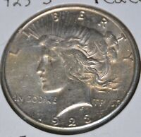 1923-S AU ALMOST UNCIRCULATED PEACE SILVER DOLLAR $1 COIN