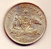 1916 SHILLING: A BEAUTIFUL COIN  AND    NO  RESERVE
