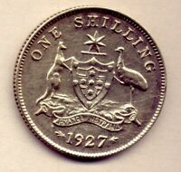 1927 SHILLING: A NICE  COIN  AND QUITE     NO  RESERVE