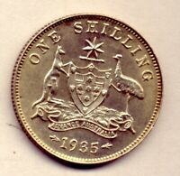 1935 SHILLING: A BRILLIANT   COIN : WITH LOT OF LUSTRE    NO