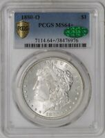 1880-O MORGAN DOLLAR $ MINT STATE 64 SECURE PLUS PCGS  CAC  942071-4