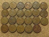 1920P THROUGH 1929S EARLY LINCOLN WHEAT CENT STARTER SET - 23 COINS