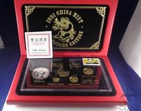 1991 CHINESE PANDA 4 PIECE PROOF SET  AGW: .65OZT   ASW: 1OZT  WITH BOX & COA