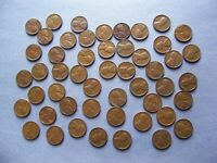 ONE ROLL OF ASSORTED 1950'S DENVER MINTMARK LINCOLN WHEAT CENTS