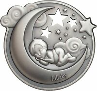2018 $5 COOK ISLANDS LULLABY   DREAMING BOY 1OZ .999 SILVER