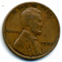 1937 P WHEAT CENT 1 CENT KEY DATE US CIRCULATED ONE LINCOLN  CENT COIN980