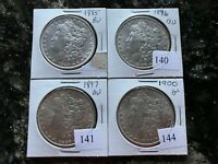 FOUR COIN BU MORGAN DOLLAR LOT 1885, 1896, 1897, AND 1900  COINS
