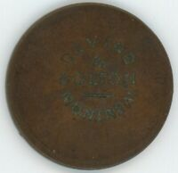 DEVINS & BOLTON COUNTERSTAMP ON LOWER CANADA 1837 ONE PENNY TOKEN