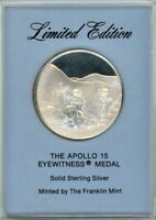 FRANKLIN MINT EYEWITNESS MEDAL   APOLLO 15