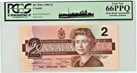 CANADA $2 NOTE 1986 GRADED 66PPQ
